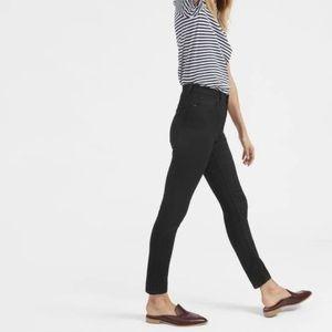 Everlane high rise black skinny jeans 27